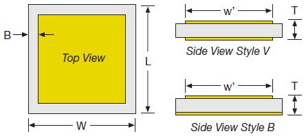 gbbl-slc border Style V & B Configuration