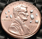 Johanson RF Inductors on US penny image