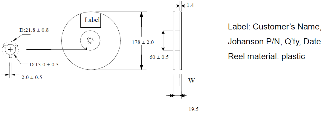 Integrated Passive Component Reel Dimensions