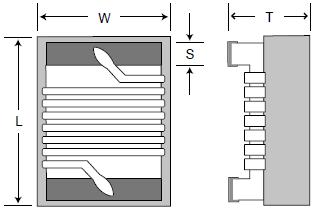Wirewound Chip Inductors case